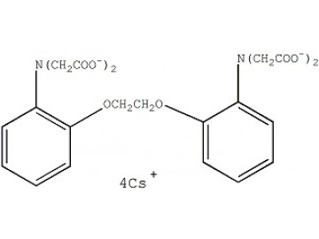 Fig. BAPTA, tetracesium salt structure formula