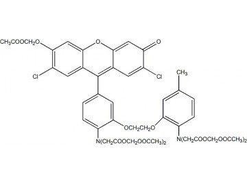 Fig. Fluo-3, AM ester structure formula