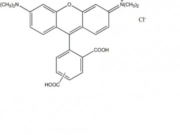 Fig. 5(6)-TAMRA, mixed isomers structure formula
