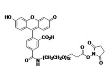 Fig. 5-FAM-PEO12, succinimidyl ester structure formula