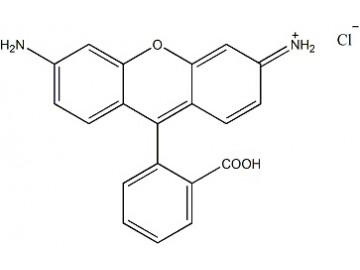 Fig. Rhodamine 110 structure formula