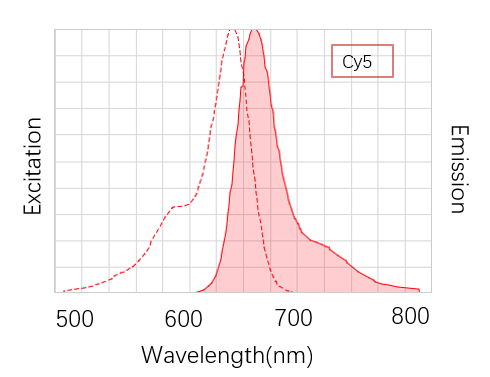 Fig. Cy5 is a red near infrared fluorescent dye, which has low background, high fluorescence intensity and good stability.