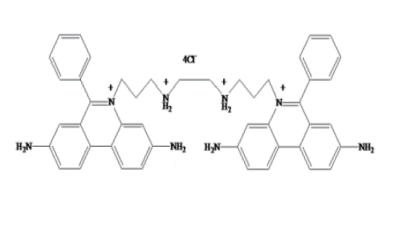 Fig. Ethidium Homodimer-1 (EthD-1) structure formula